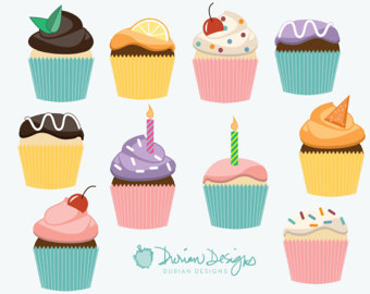 Frosting clipart cupcake logo Vanilla commercial use chocolate Drawn