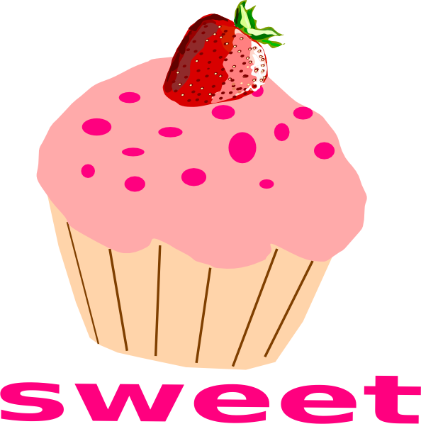 Frosting clipart cupcake logo Pink Strawberry Cupcake With Download