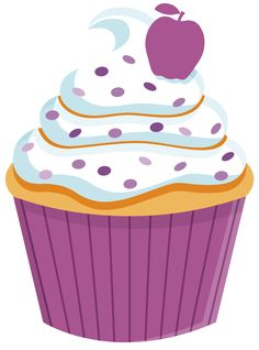 Frosting clipart cupcake logo Colorful Kid Cupcake and Rainbow