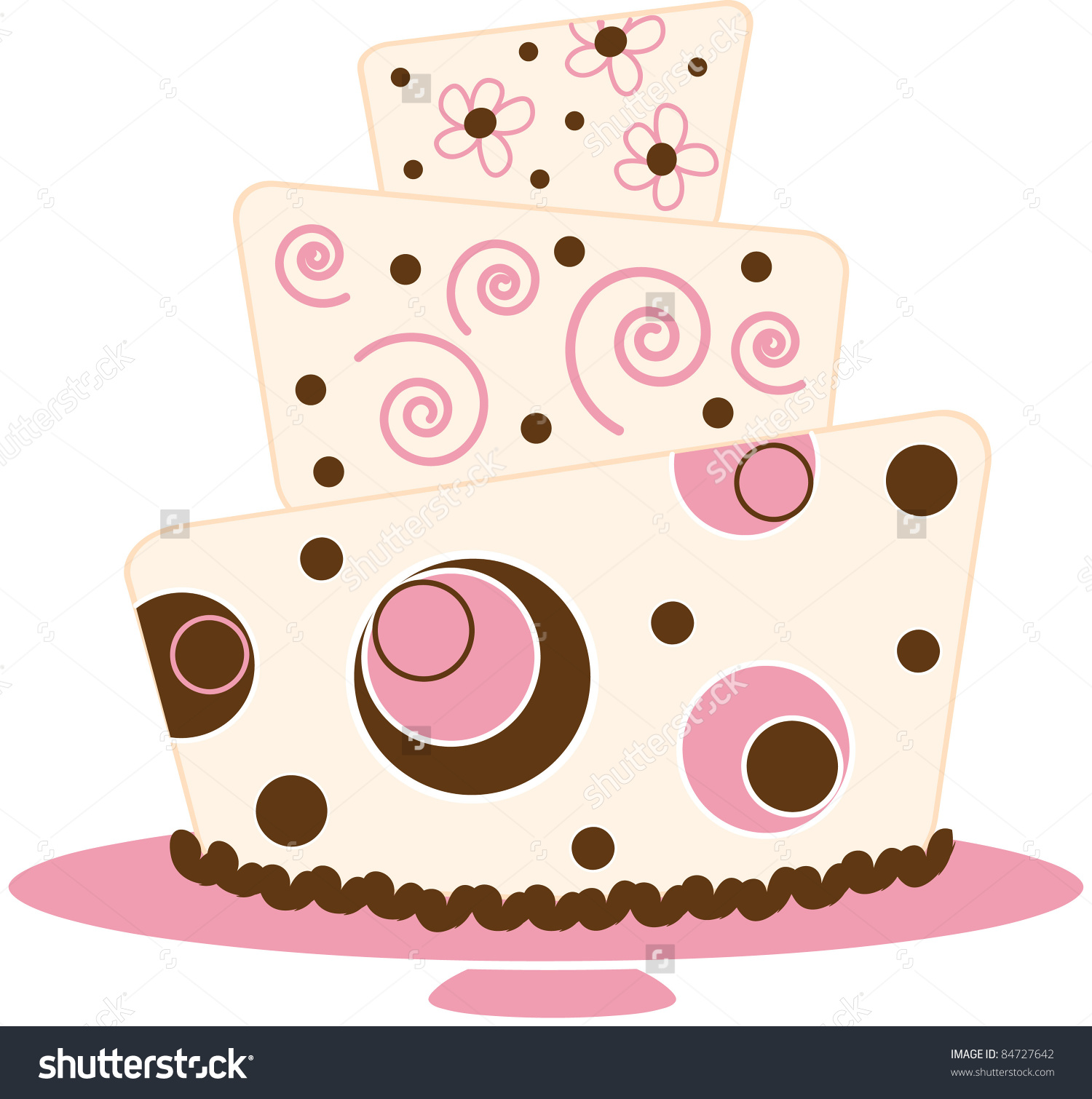 Frosting clipart layered cake Layer art Stock Layer Illustration