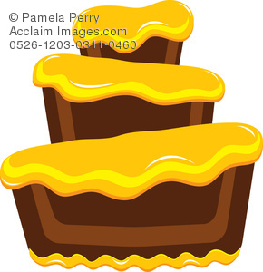 Frosting clipart layered cake Cake Yellow Illustration a Bakery