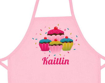 Frosting clipart pink apron For Personalized Apron Etsy Pink