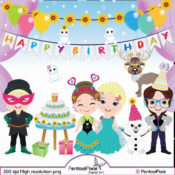Birthday clipart queen 25+ Birthday clipart by Frozen