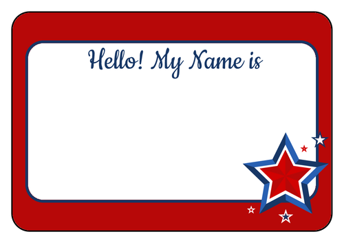 Hello! clipart name tag Name Tag Fourth 375