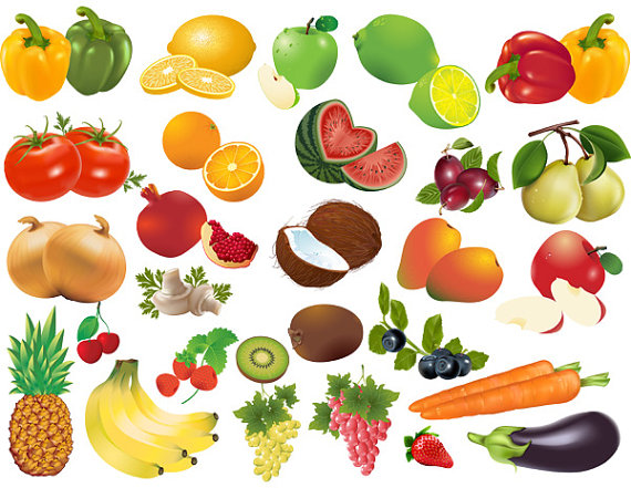 Fruits & Vegetables clipart #7