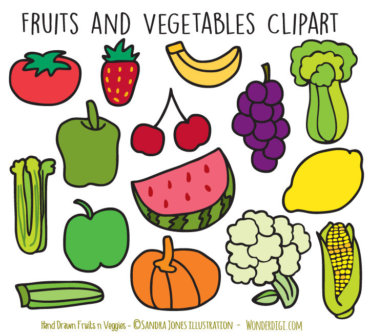 Drawn vegetable line art Clip Etsy Art clipart Hand