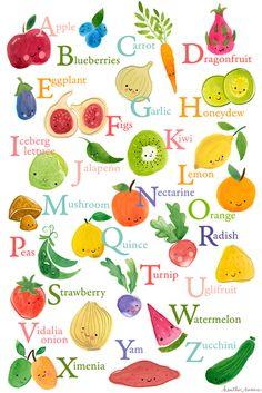 Fruits & Vegetables clipart alphabet And Fruit Preschool by Veg