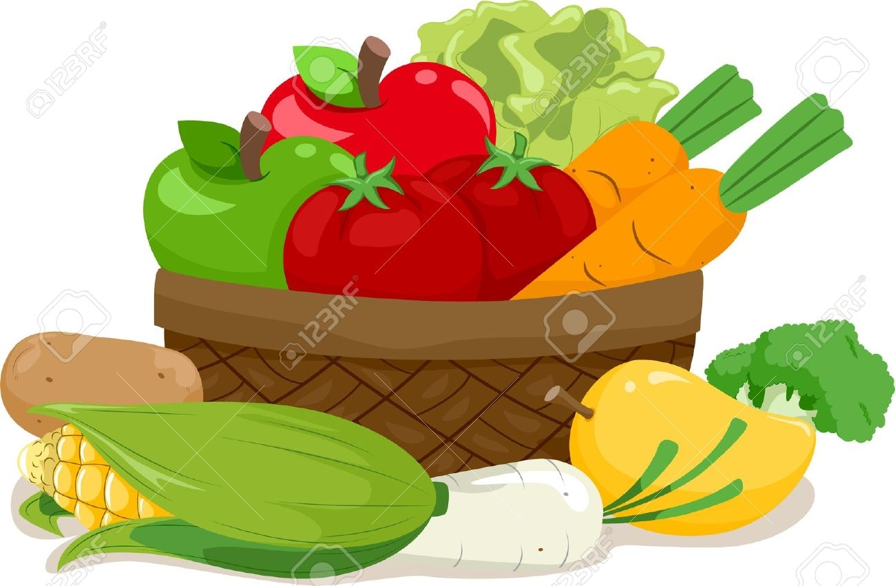 Fruits & Vegetables clipart basket drawing A fruit drawing magiel Fruits