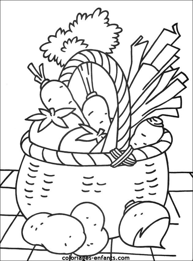 Fruits & Vegetables clipart basket drawing Fruits and Drawing For For