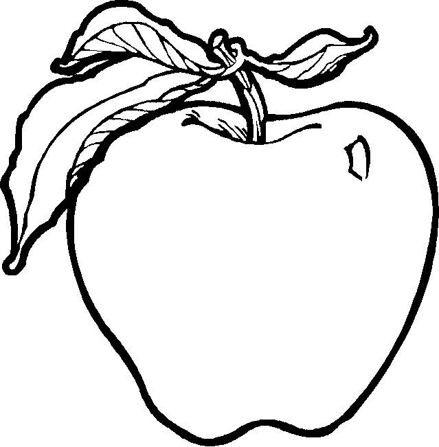 Fruits & Vegetables clipart coloring page Pages the Fruit stamps Pinterest