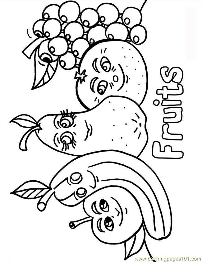 Fruits & Vegetables clipart coloring page Vegetables Pages On About 17