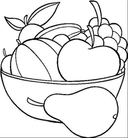 Fruits & Vegetables clipart coloring page Page pages batman And Pages