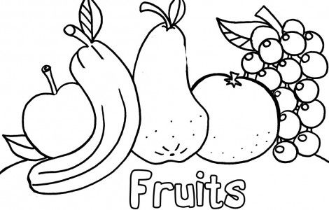 Fruits & Vegetables clipart coloring page Coloring With And Pages And