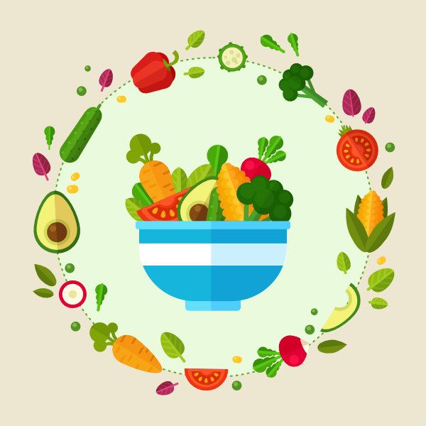 Fruits & Vegetables clipart flat design Flat Affinity in Style Create