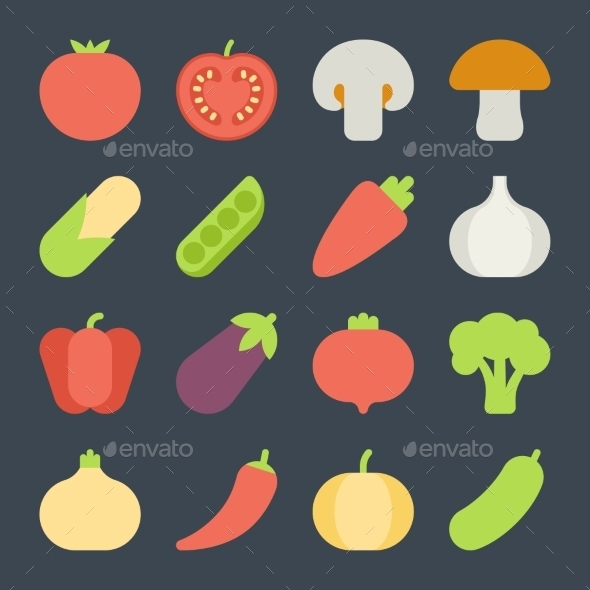 Fruits & Vegetables clipart flat design And And Fruits Vegetables For