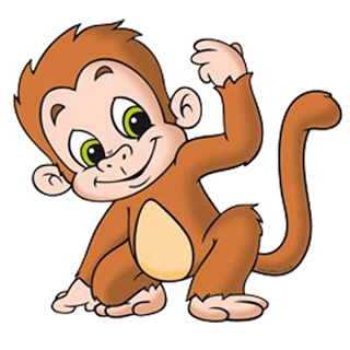 Turtle clipart baby monkey #2