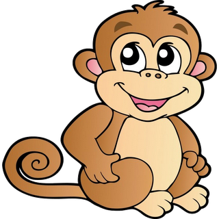Baboon clipart cute Cartoon Monkeys  Cartoon Cartoon