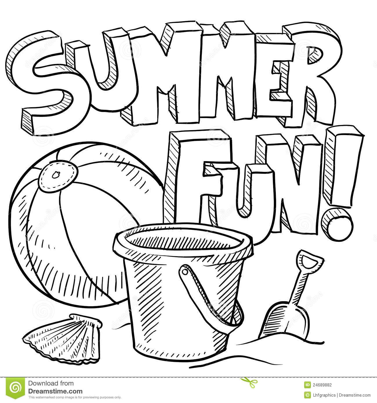 Sketch clipart fun And White Summer Clipart Fun