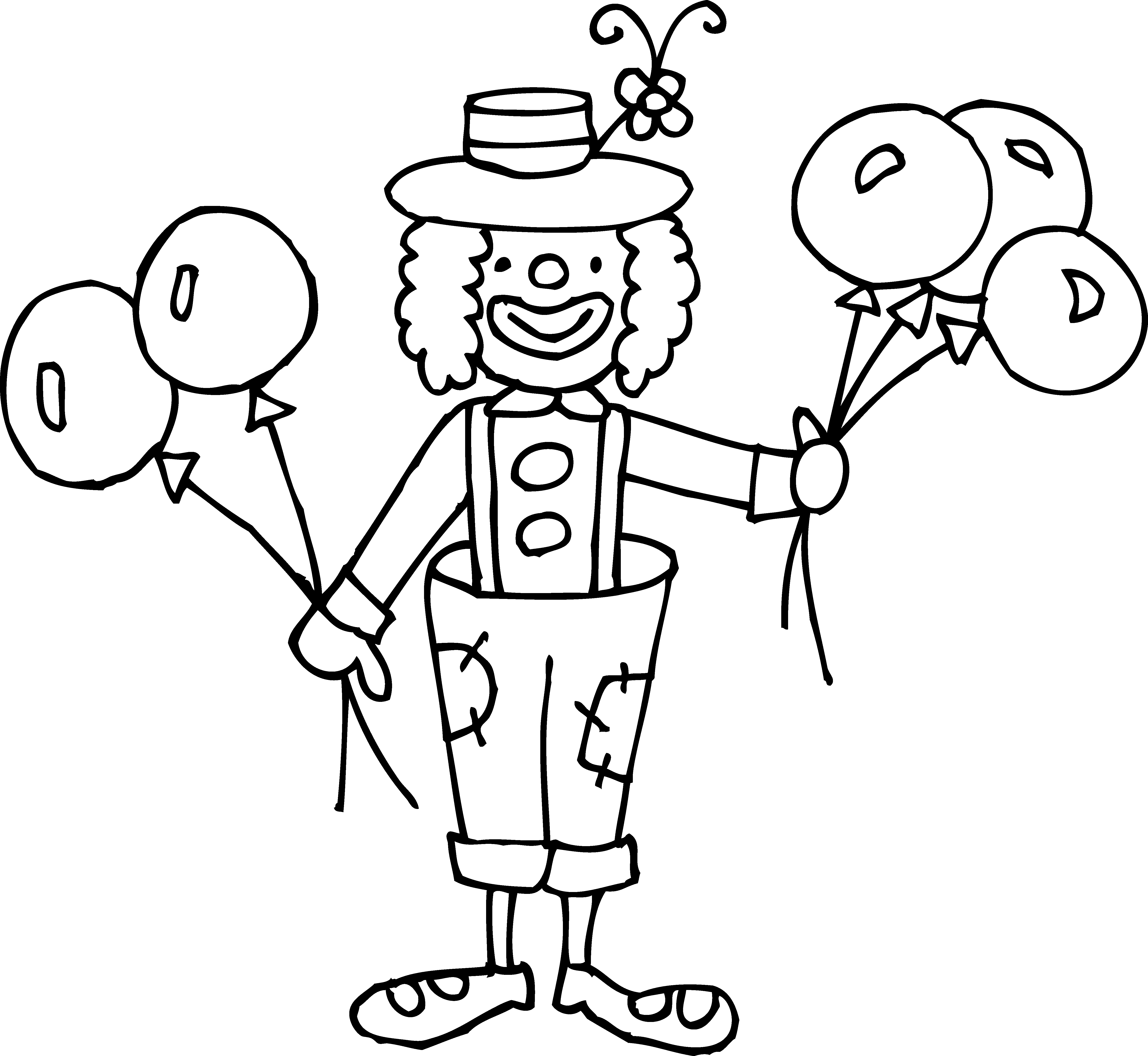 Fun clipart black and white  And Clipart Black Clown