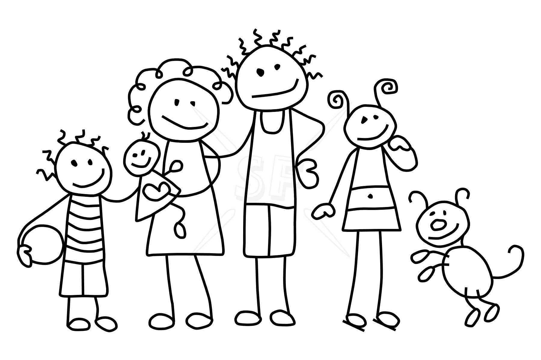 Fun clipart black and white Collection and Family white love
