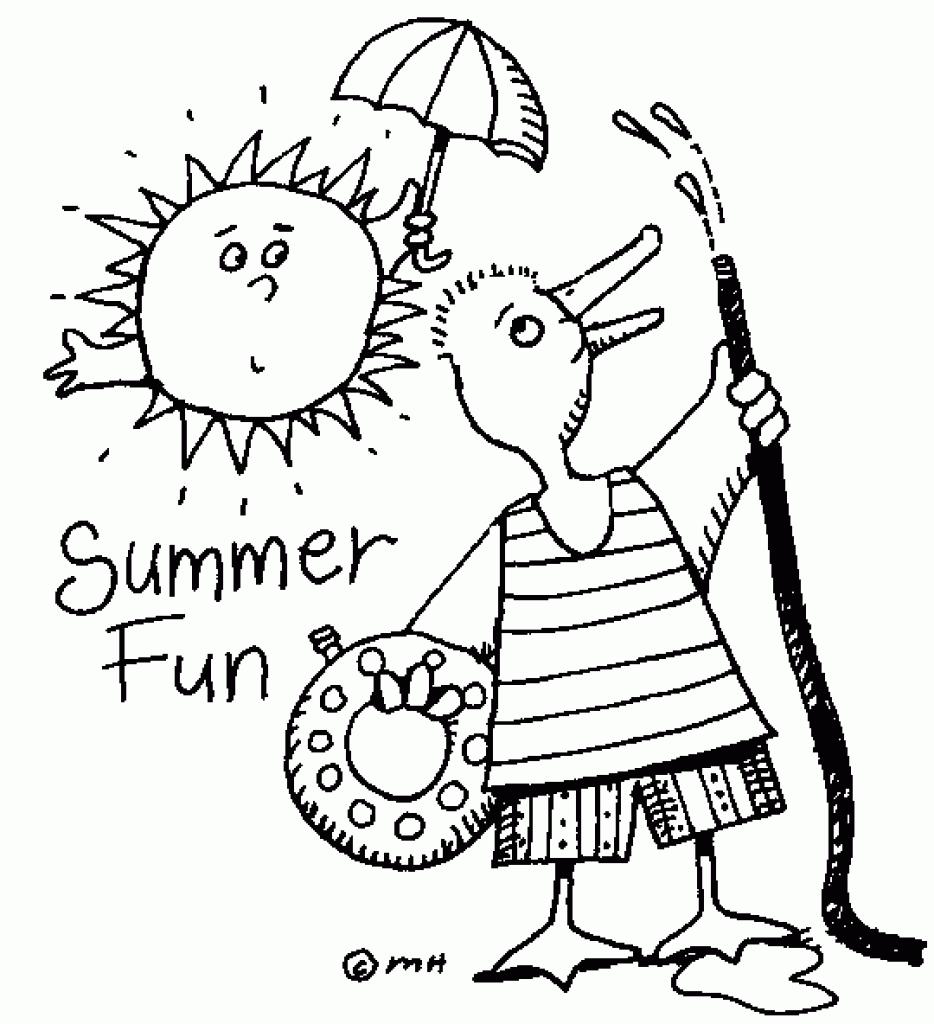Fun clipart black and white  summer summer clipart clipart