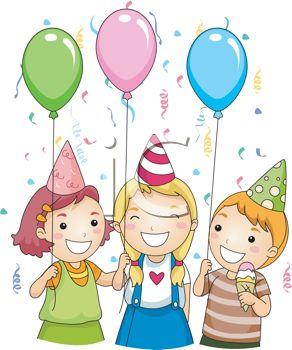 Illustration clipart three Birthday Stock Family  Children