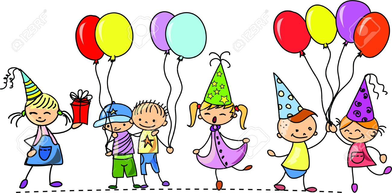 Birthday clipart children's Kids Fun party Birthday Family