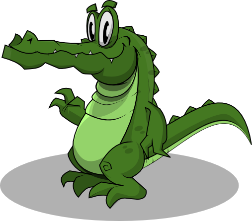Relax clipart crocodile head #15