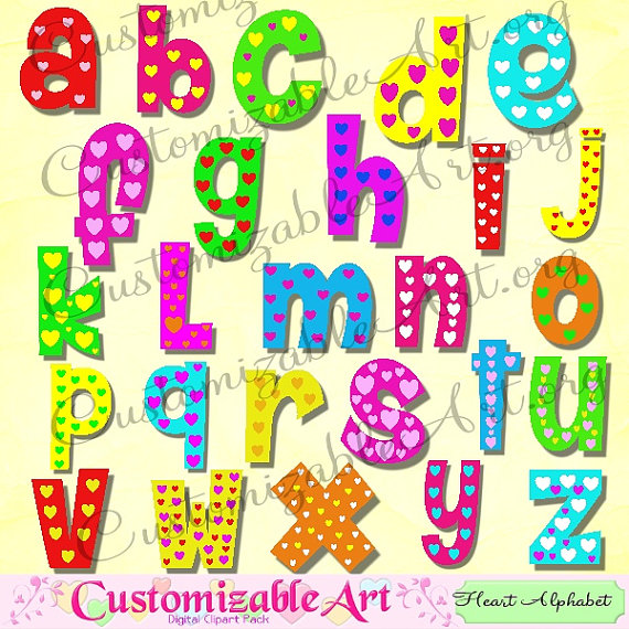 Lettering clipart abc Digital Digital Clip Art from