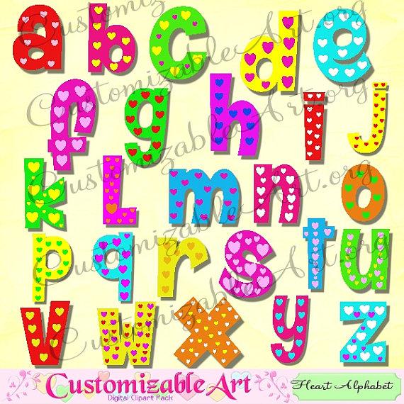 Letter clipart abc Romantic Alphabet Alphabet Clipart Fun