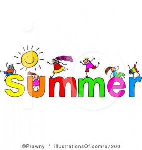 Fun clipart end summer School vacations Time to to