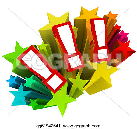 Fun clipart excitement Stock Illustration exclamation Illustrations colorful