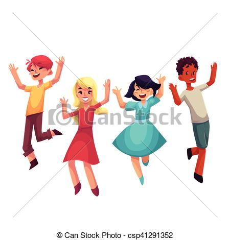 Fun clipart excitement  boys in csp41291352 and