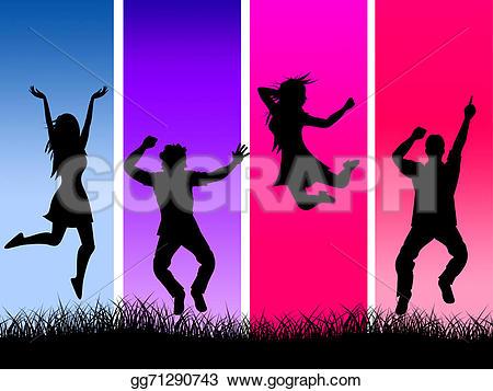 Fun clipart excitement Grass Clipart elation represents fun