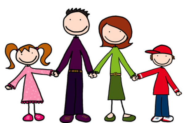 Cuddle clipart family #4