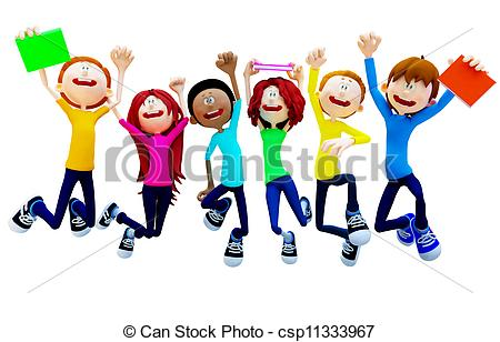 Fun clipart happy group Group Clipart Students Clipart Clipart