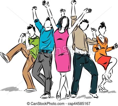 Fun clipart happy group Positive positive of of group