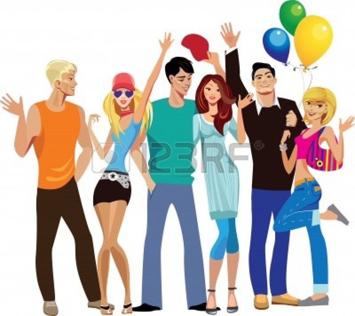 Fun clipart happy group Group People Happy Clipart Free