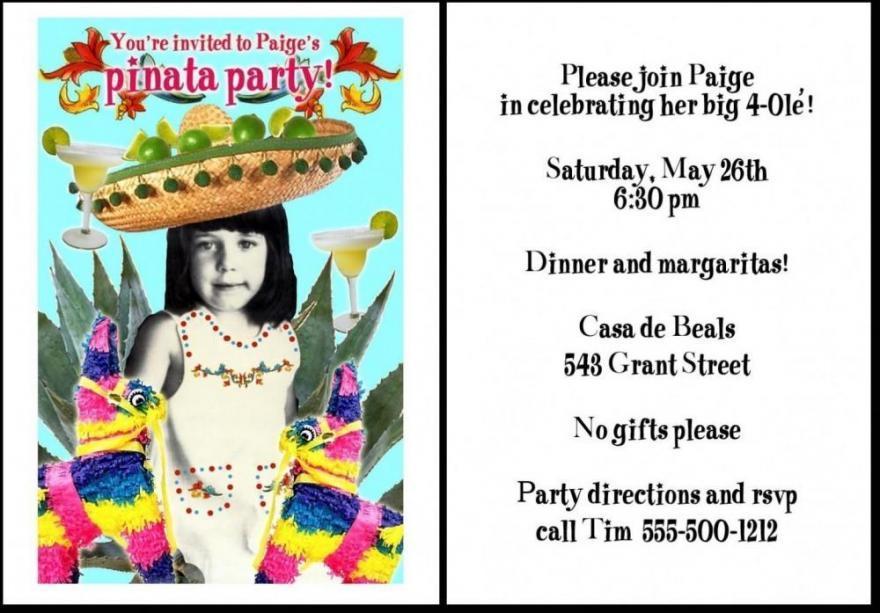 Fun clipart invited Cute Birthday Cute Funny Invitations