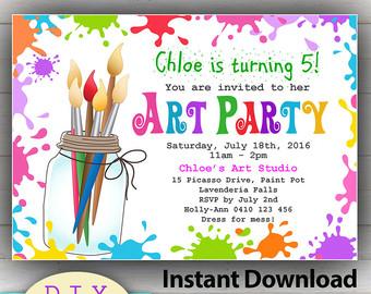 Fun clipart invited Invitation Party Etsy Art INSTANT