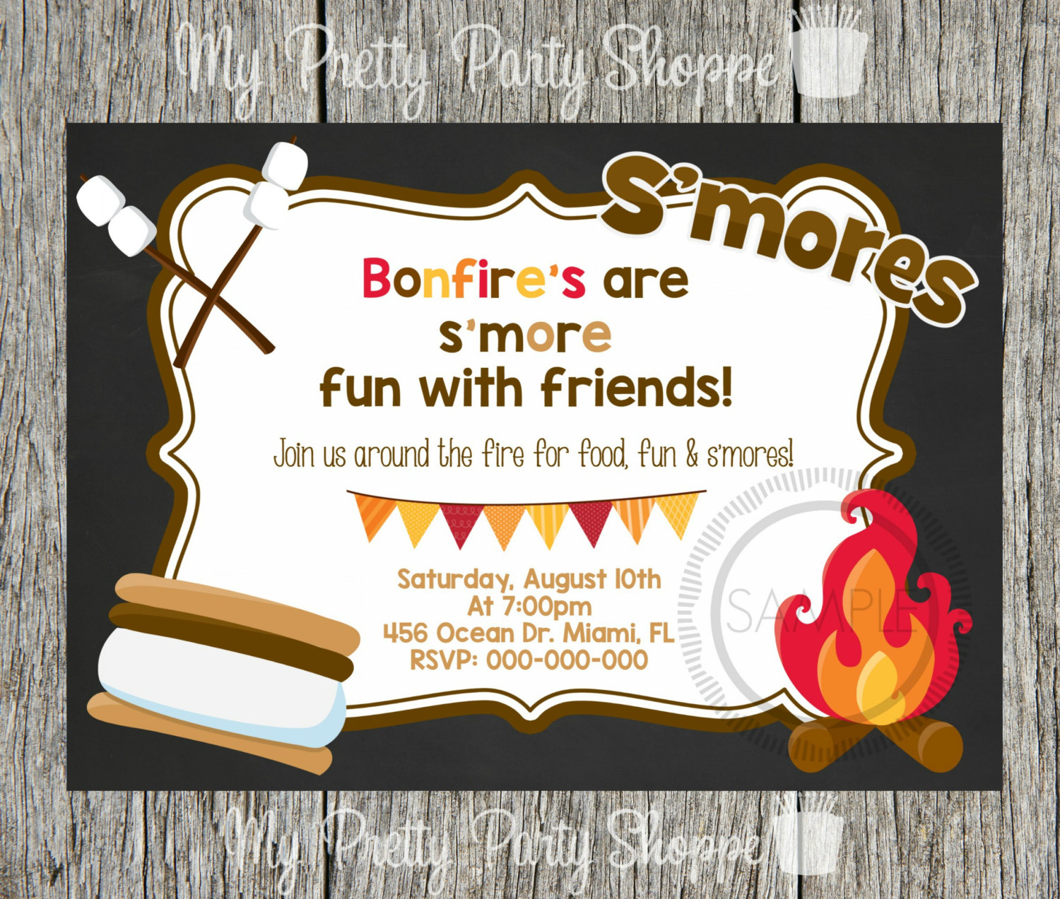 Fun clipart invited Camping Fire / Pit Etsy