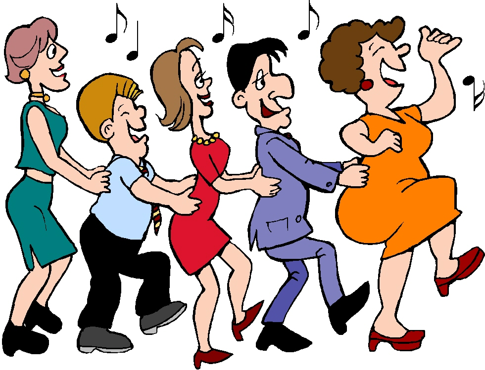 Lines clipart person Clip free Dancing dance pictures