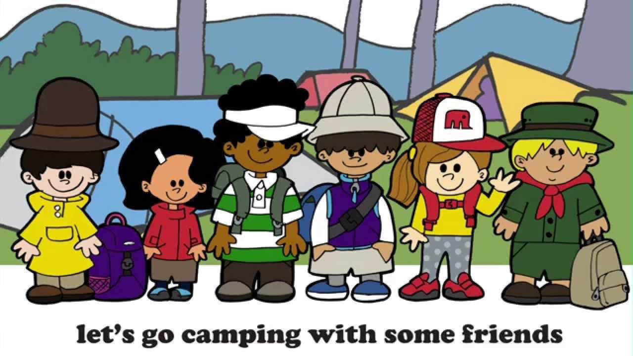 Fun clipart let's go Mammoth English Camping Go English