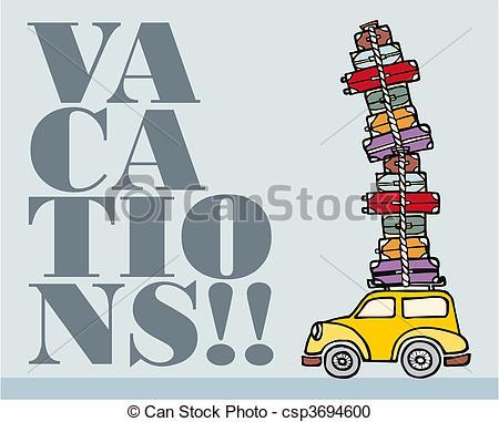 Fun clipart let's go Ready of car Vector csp3694600