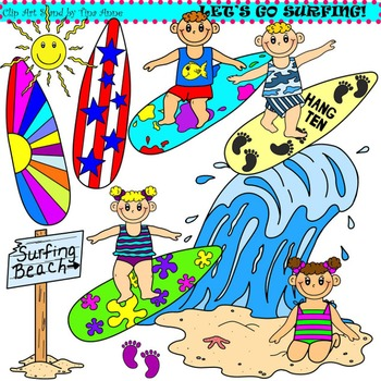 Fun clipart let's go Clip Let's Crafts Surfing Art