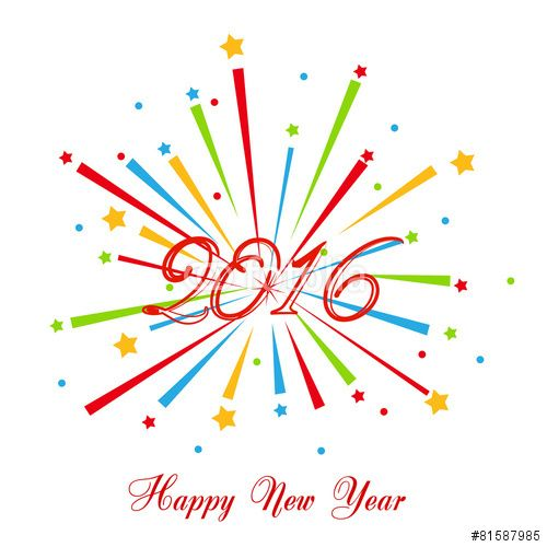 Fun clipart new year firework On Stock 177 about new