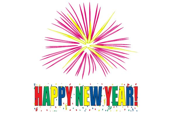 Fun clipart new year firework  designs Happy year happy