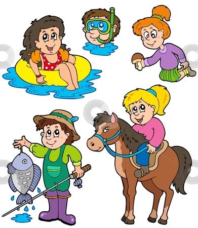 Vacation clipart summer activity Vector stock essayer activities à