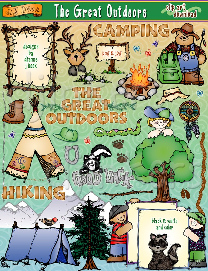 Outdoor clipart great outdoors Outdoors Download Clipart Outdoorsy DJ