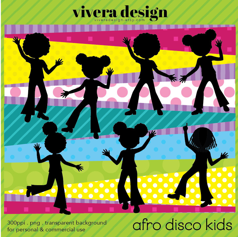 Disco clipart disco party Afro Clip clipart for Kids